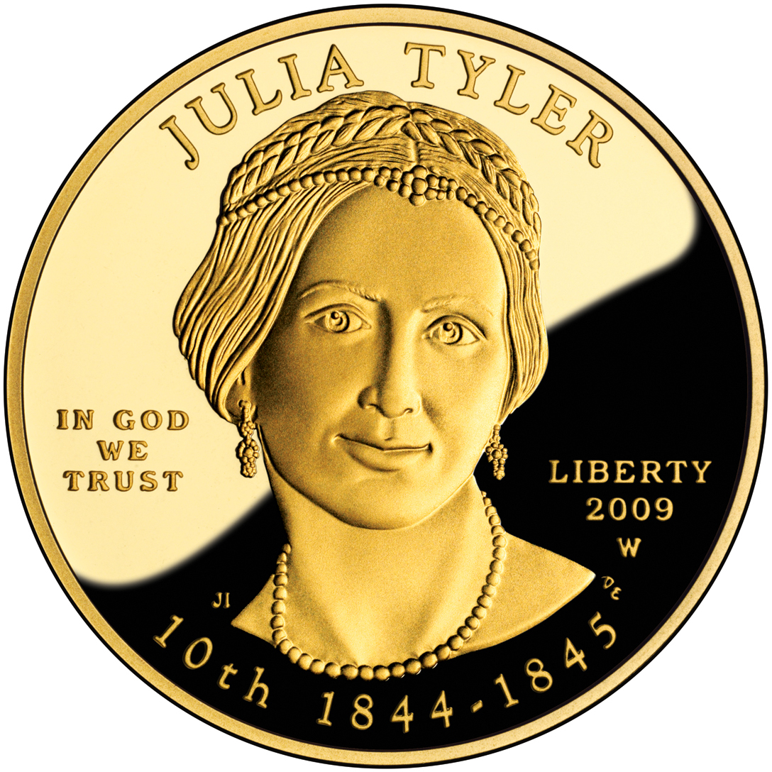 2009 First Spouse Gold Coin Julia Tyler Proof Obverse