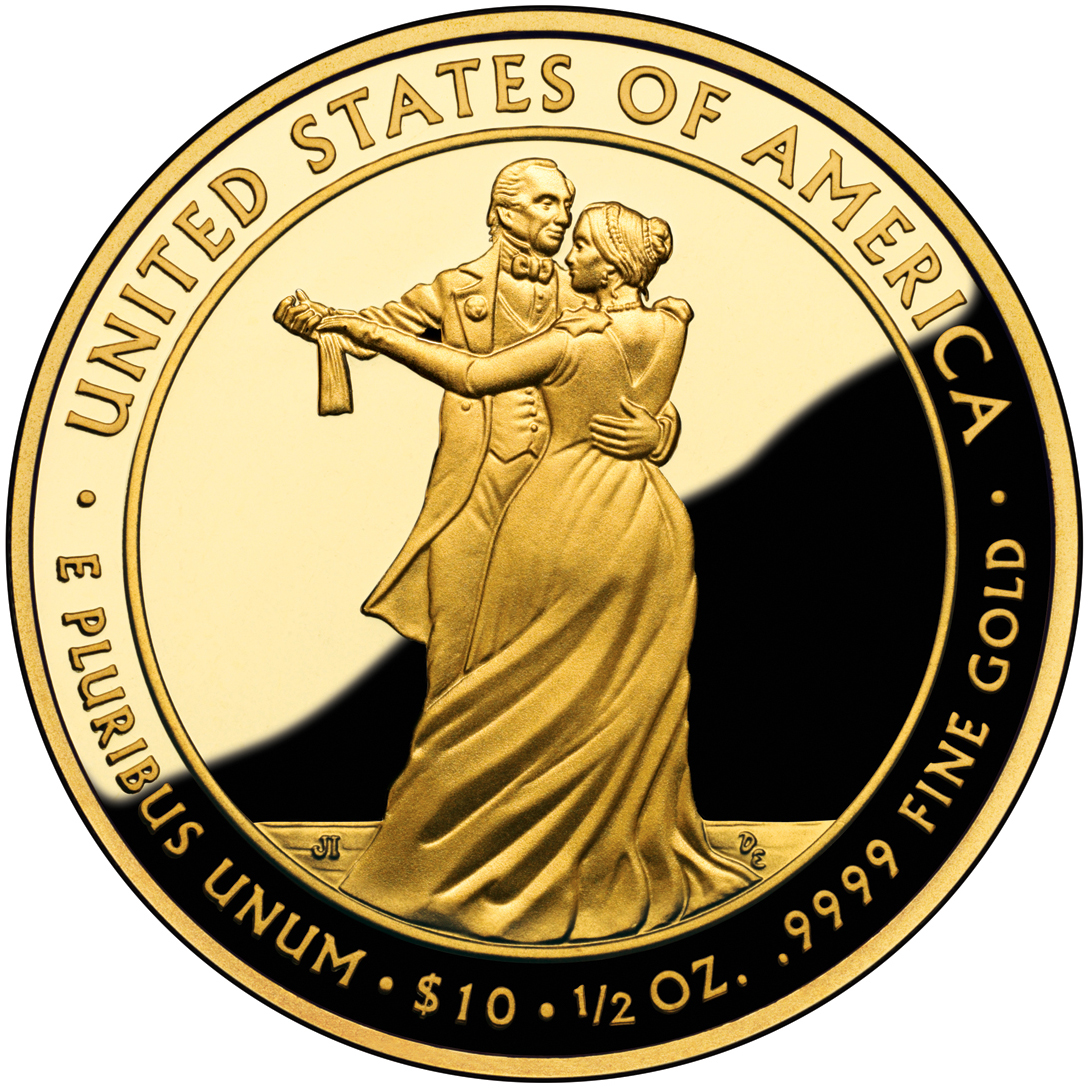 2009 First Spouse Gold Coin Julia Tyler Proof Reverse