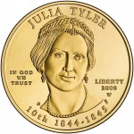 2009 First Spouse Gold Coin Julia Tyler Uncirculated Obverse