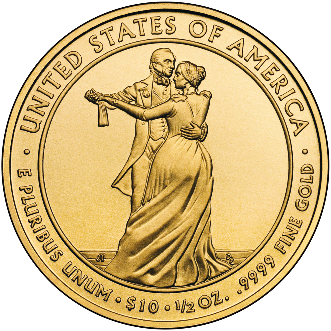 2009 First Spouse Gold Coin Julia Tyler Uncirculated Reverse