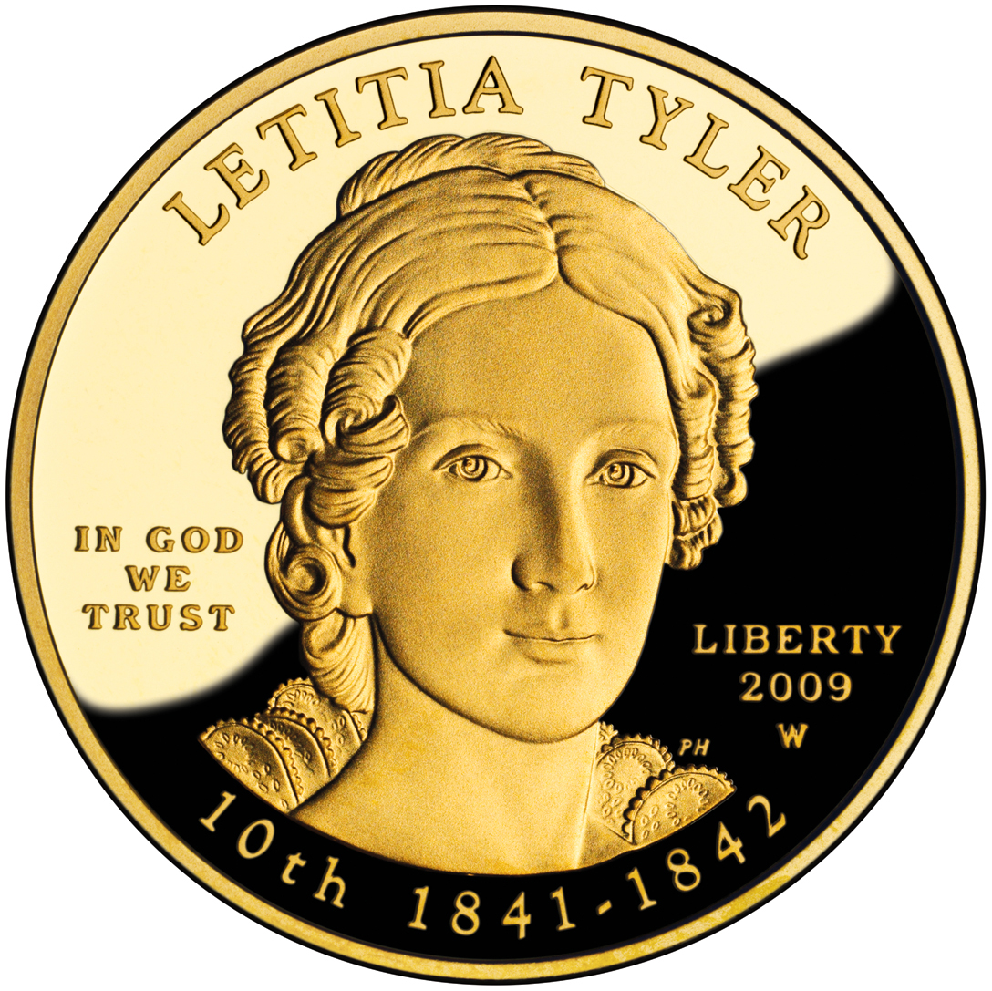 2009 First Spouse Gold Coin Letitia Tyler Proof Obverse