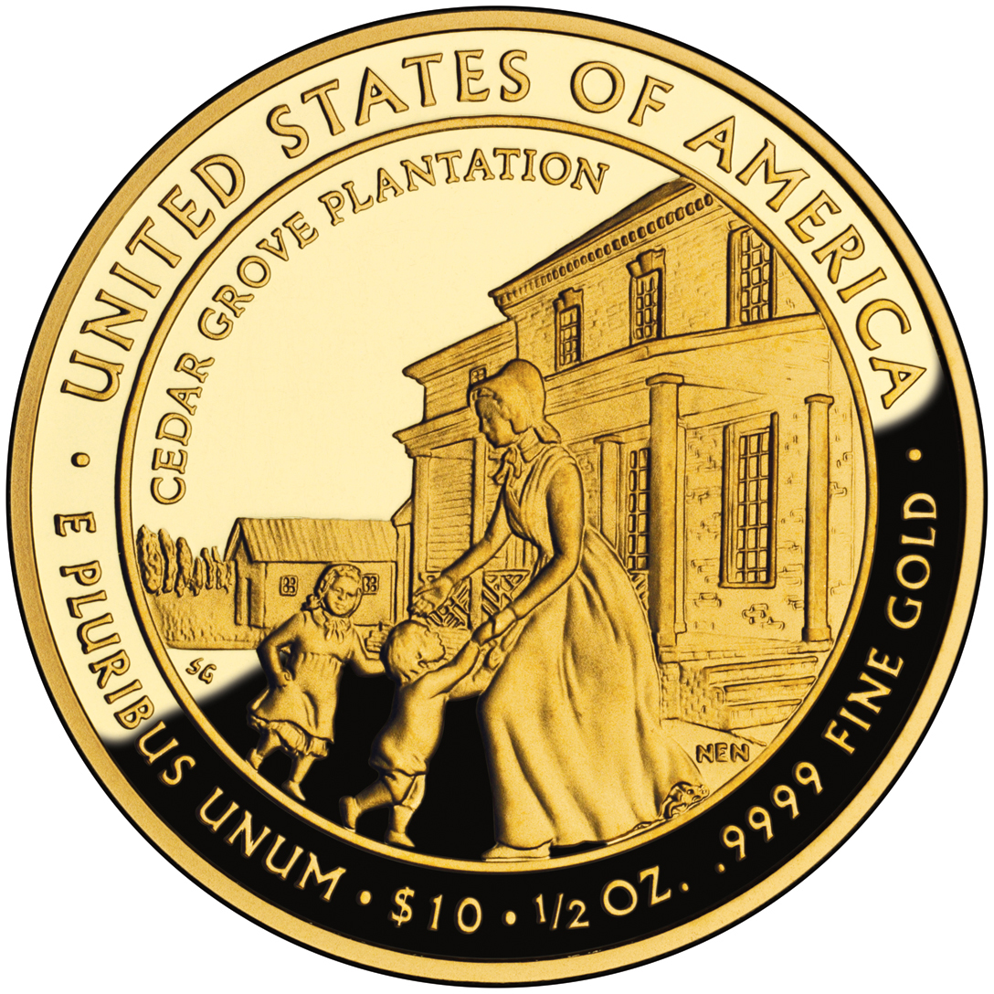 2009 First Spouse Gold Coin Letitia Tyler Proof Reverse