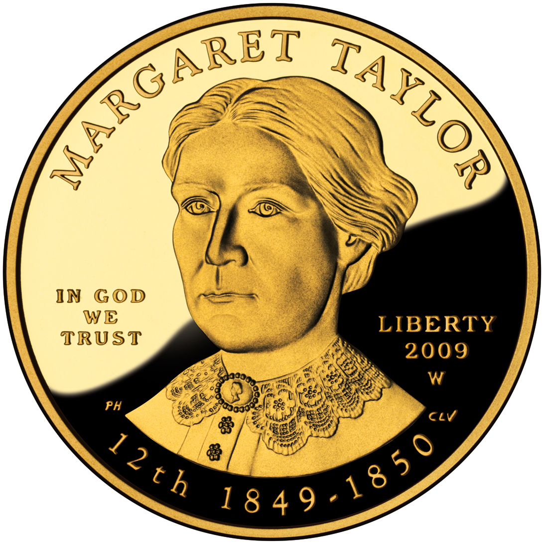 2009 First Spouse Gold Coin Margaret Taylor Proof Obverse
