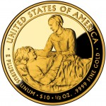 2009 First Spouse Gold Coin Margaret Taylor Proof Reverse