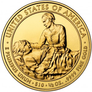 2009 First Spouse Gold Coin Margaret Taylor Uncirculated Reverse