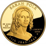 2009 First Spouse Gold Coin Sarah Polk Proof Obverse