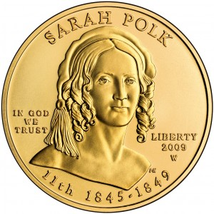 2009 First Spouse Gold Coin Sarah Polk Uncirculated Obverse