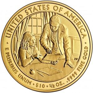 2009 First Spouse Gold Coin Sarah Polk Uncirculated Reverse