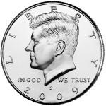 2009 Kennedy Half Dollar Uncirculated Obverse Philadelphia