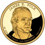 2009 Presidential Dollar Coin James Knox Polk Proof Obverse