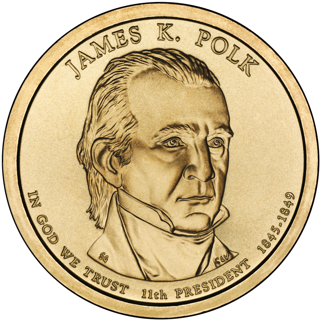 2009 Presidential Dollar Coin James Knox Polk Uncirculated Obverse