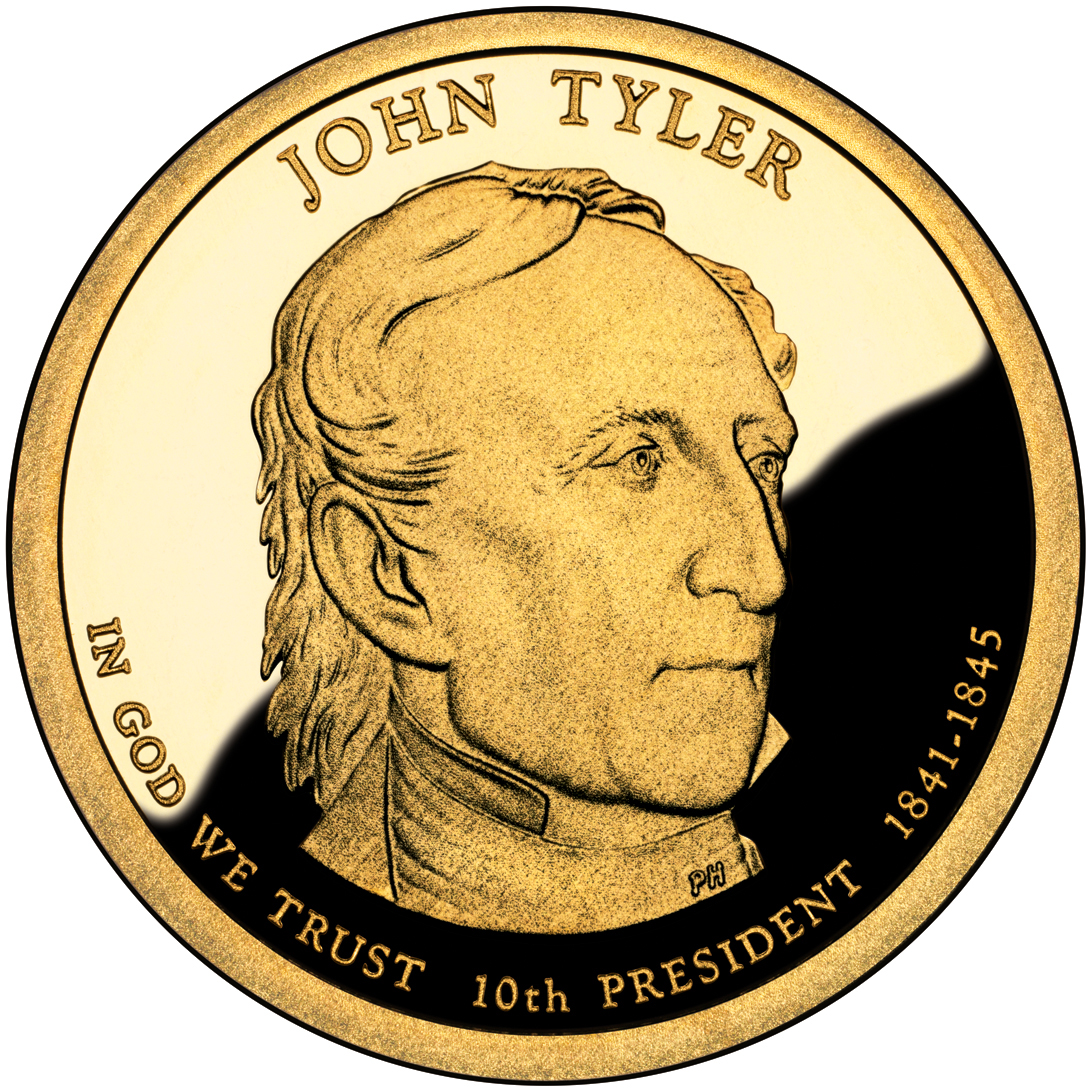 2009 Presidential Dollar Coin John Tyler Proof Obverse