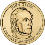 2009 Presidential Dollar Coin John Tyler Uncirculated Obverse