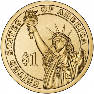 2009 Presidential Dollar Coin Uncirculated Reverse