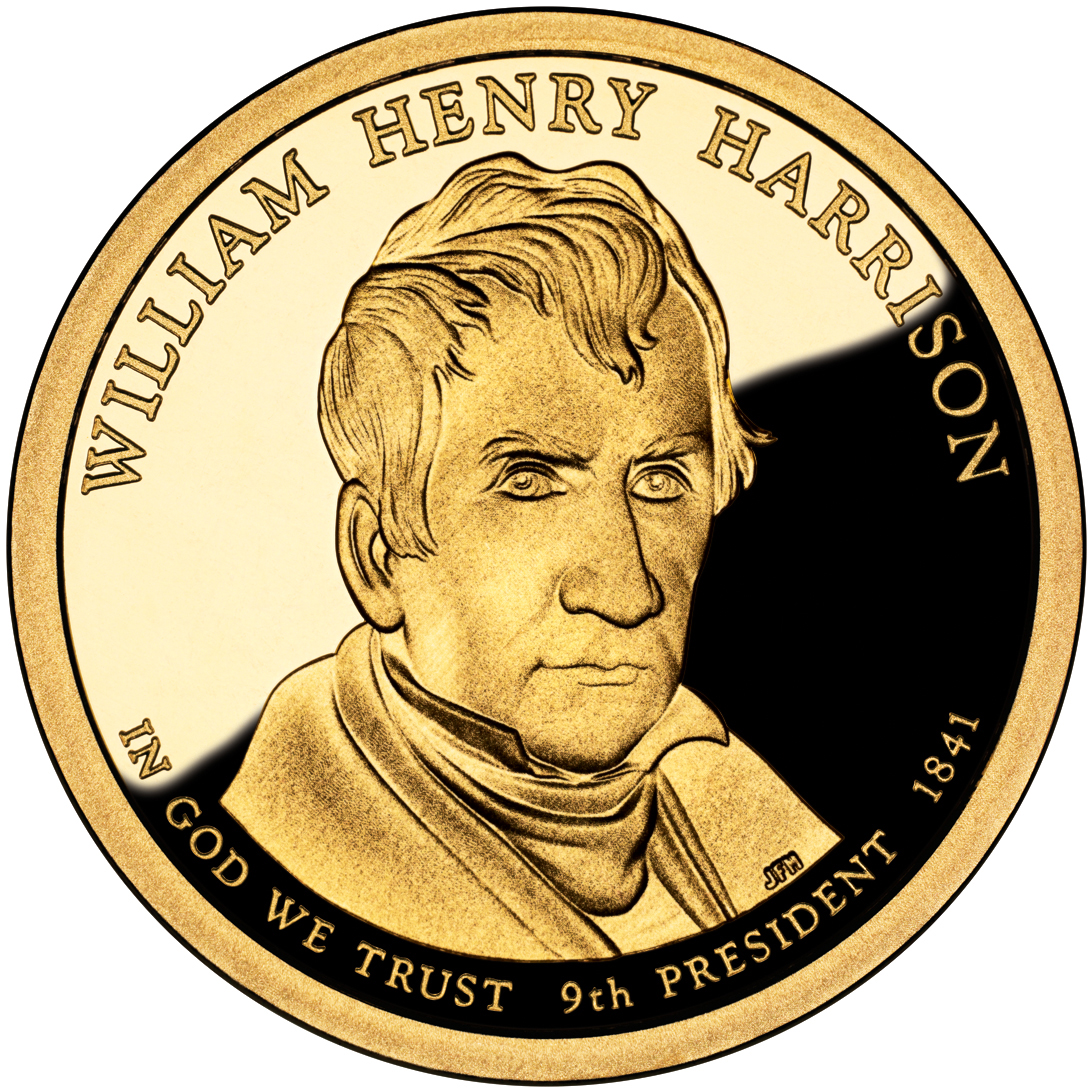 2009 Presidential Dollar Coin William Henry Harrison Proof Obverse