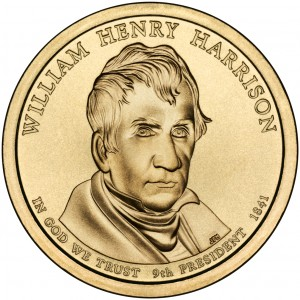2009 Presidential Dollar Coin William Henry Harrison Uncirculated Obverse