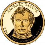 2009 Presidential Dollar Coin Zachary Taylor Proof Obverse