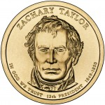 2009 Presidential Dollar Coin Zachary Taylor Uncirculated Obverse
