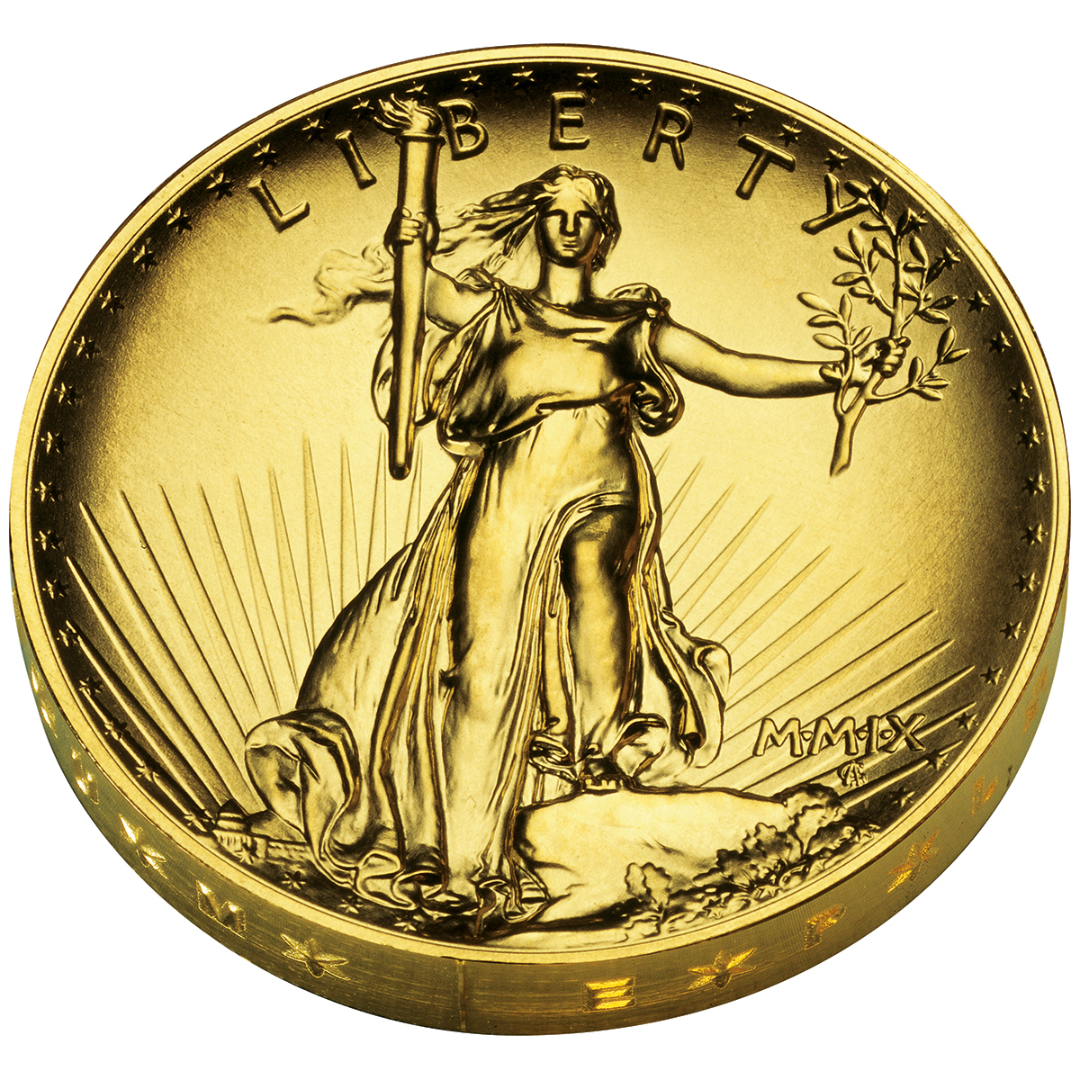 2009 Ultra High Relief Double Eagle Gold Coin Obverse