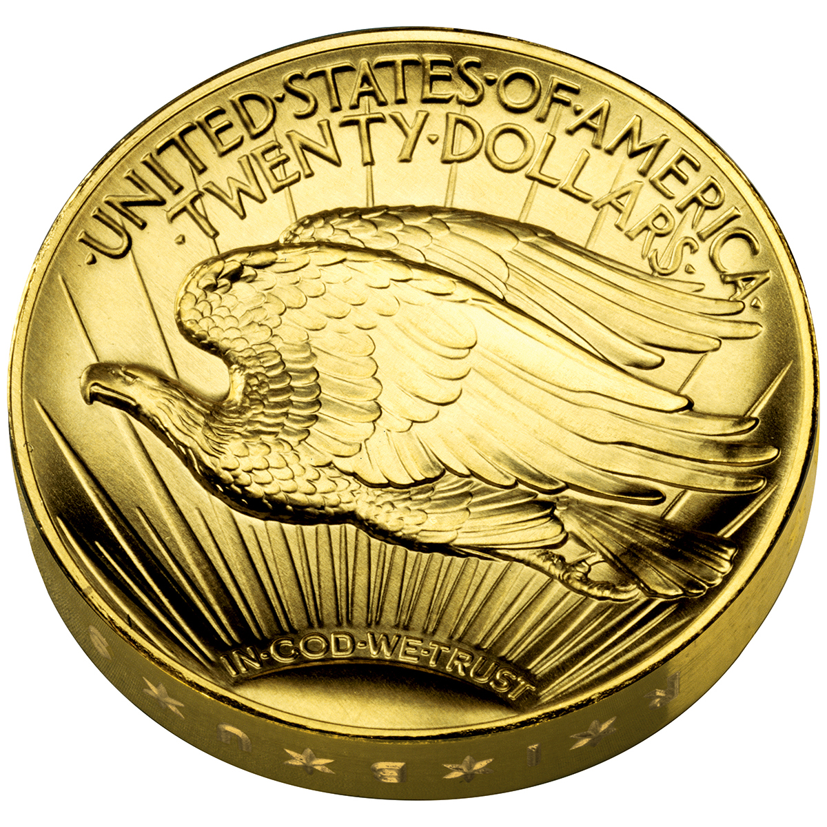 2009 Ultra High Relief Double Eagle Gold Coin Reverse