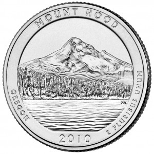 2010 America The Beautiful Quarters Coin Mount Hood Oregon Uncirculated Reverse