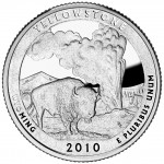 2010 America The Beautiful Quarters Coin Yellowstone Wyoming Proof Reverse