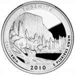 2010 America The Beautiful Quarters Coin Yosemite California Proof Reverse