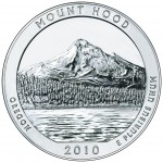 2010 America The Beautiful Quarters Five Ounce Silver Bullion Coin Mount Hood Oregon Reverse