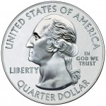 2010 America The Beautiful Quarters Five Ounce Silver Bullion Coin Obverse
