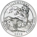 2010 America The Beautiful Quarters Five Ounce Silver Bullion Coin Yellowstone Wyoming Reverse