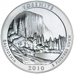 2010 America The Beautiful Quarters Five Ounce Silver Bullion Coin Yosemite California Reverse