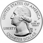 2010 America The Beautiful Quarters Five Ounce Silver Uncirculated Coin Obverse