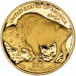 2010 American Buffalo One Ounce Gold Proof Coin Reverse