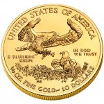 2010 American Eagle Gold Quarter Ounce Bullion Coin Reverse