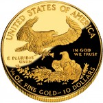 2010 American Eagle Gold Quarter Ounce Proof Coin Reverse