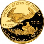 2010 American Eagle Gold Tenth Ounce Proof Coin Reverse