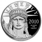 2010 American Eagle Platinum One Ounce Proof Coin Obverse