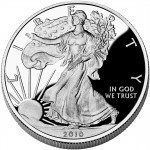 2010 American Eagle Silver One Ounce Proof Coin Obverse