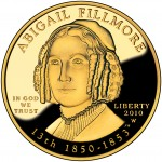 2010 First Spouse Gold Coin Abigail Fillmore Proof Obverse