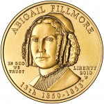 2010 First Spouse Gold Coin Abigail Fillmore Uncirculated Obverse