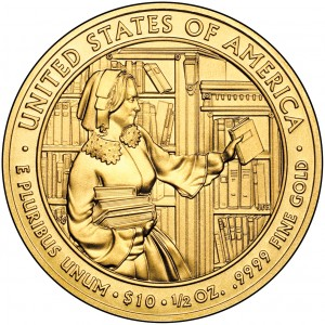 2010 First Spouse Gold Coin Abigail Fillmore Uncirculated Reverse