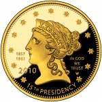 2010 First Spouse Gold Coin Buchanan Liberty Proof Obverse