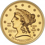 2010 First Spouse Gold Coin Buchanan Liberty Uncirculated Obverse