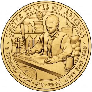 2010 First Spouse Gold Coin Buchanan Liberty Uncirculated Reverse