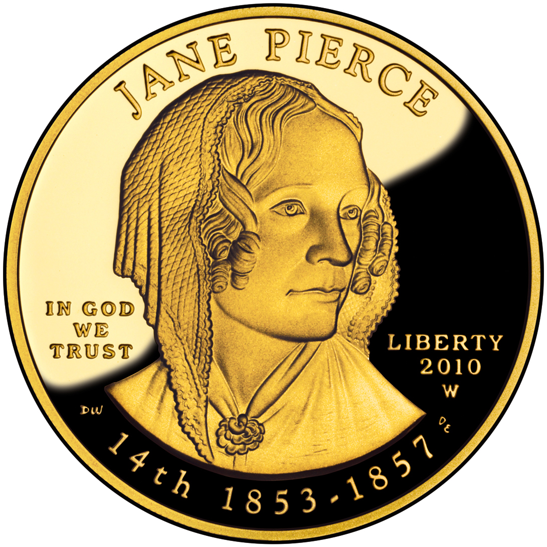 2010 First Spouse Gold Coin Jane Pierce Proof Obverse