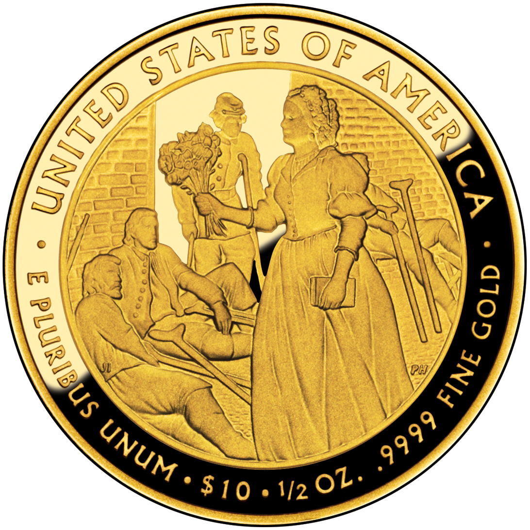 2010 First Spouse Gold Coin Mary Todd Lincoln Proof Reverse