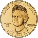 2010 First Spouse Gold Coin Mary Todd Lincoln Uncirculated Obverse