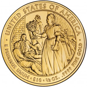 2010 First Spouse Gold Coin Mary Todd Lincoln Uncirculated Reverse