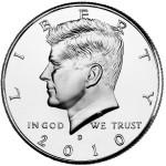 2010 Kennedy Half Dollar Uncirculated Obverse Denver
