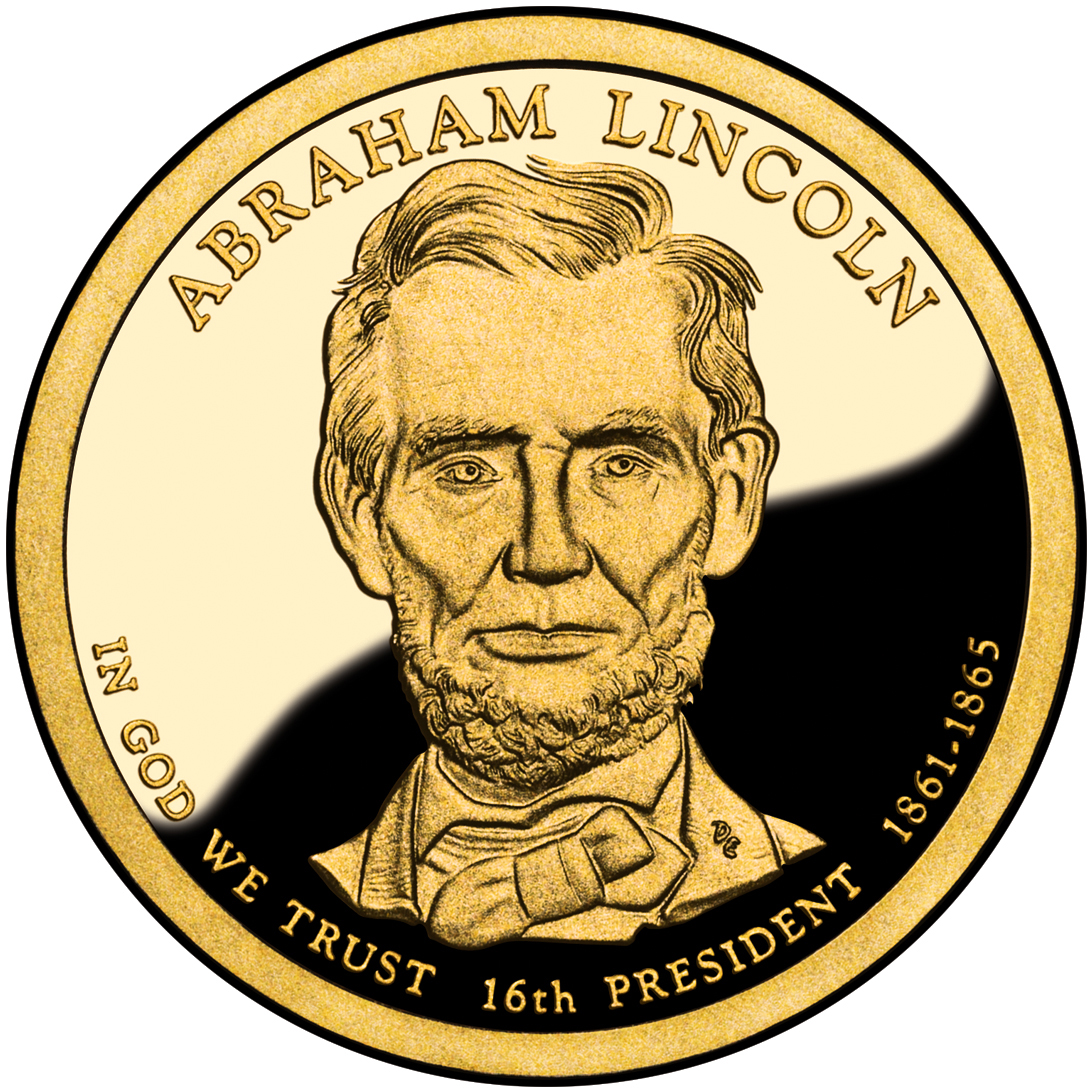 2010 Presidential Dollar Coin Abraham Lincoln Proof Obverse